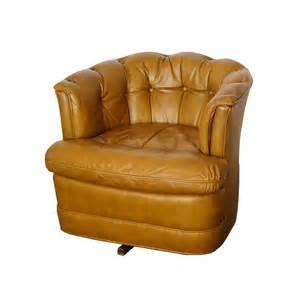 drexel leather barrel swivel club chair on sale in