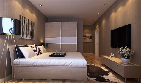 home interior design for bedroom master bedroom interior design with tv wall and wardrobe