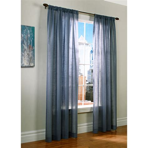 100 X 95 Curtains Thermalogic Weathervane Semi Sheer Curtains 100x95 Rod Pocket Insulated In Blue