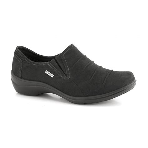 romika womens 11 black waxy suede slip on shoes