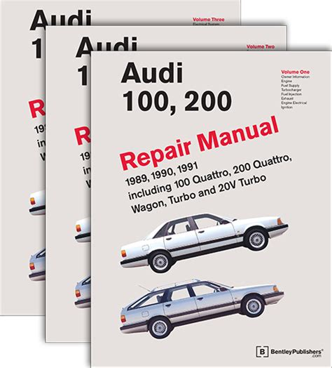 front cover audi repair manual audi 100 200 1989 1991 bentley publishers repair manuals