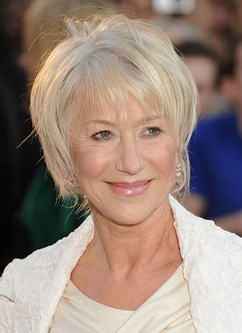 hairstyles: helen mirren – short wispy hairstyle