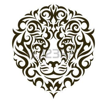 lion tattoo logo lion tattoo logo lion tattoo illustration isolated on