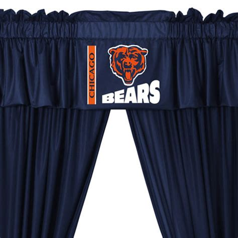 Nfl Chicago Bears 5pc Curtains And Valance Set