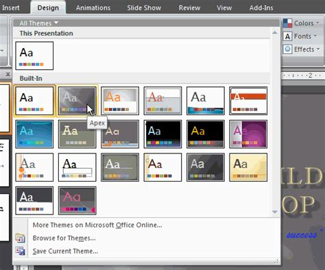 design themes in powerpoint 2007 design templates in powerpoint 2007 gallery powerpoint