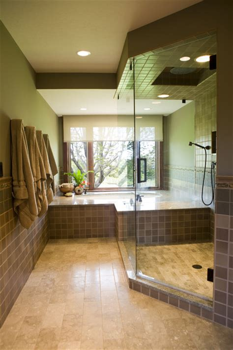 Frank Lloyd Wright Inspired Home Contemporary Bathroom other metro by Shane D. Inman