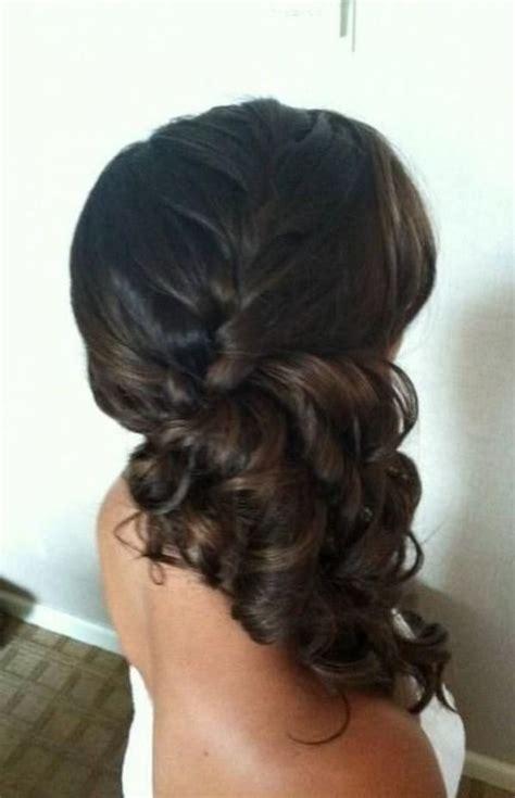 ideas  side ponytail wedding  pinterest side ponytail updo bridesmaid side