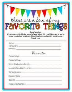 favorite things list template sweet s favorite things template
