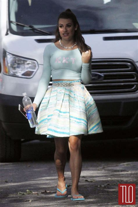 Style On The Set by Lea Michele On The Set Of Quot Scream Quot Tom Lorenzo