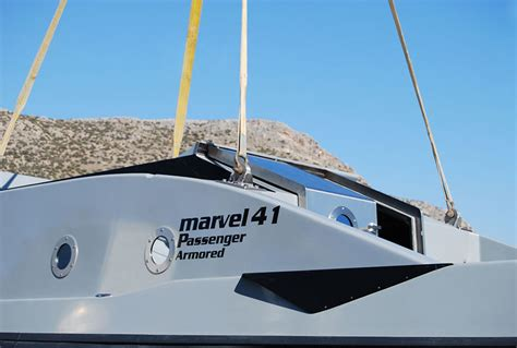 armored boat armored security speedboats marvel 41c boat