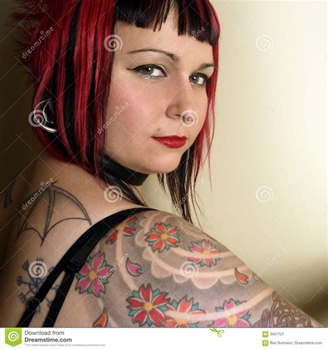 royalty tattoos beautiful stock image image of pretty