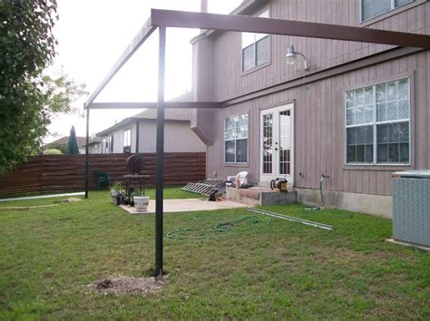 steel awning custom steel patio awning thousand oaks san antonio