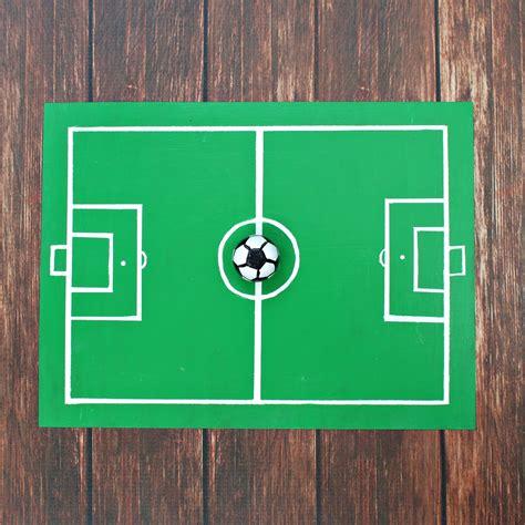 how to build a soccer field in your backyard magnetic chalkboard soccer field diy morena s corner