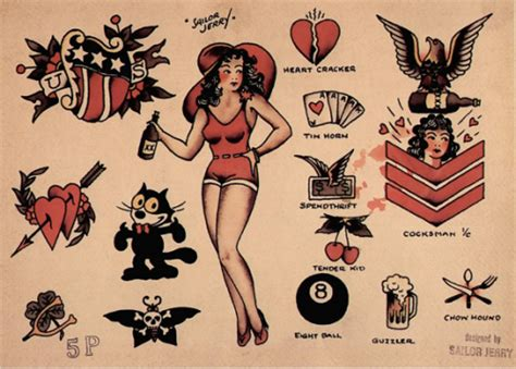 tattoo flash old school sailor jerry aliens and ice cream vintagegal sailor jerry tattoo flash