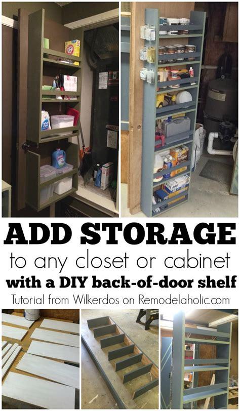 inside closet door organizer remodelaholic build an organized back of door shelf