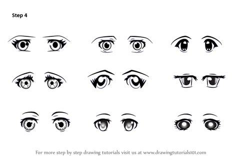 printable how to draw eyes learn how to draw anime eyes female eyes step by step