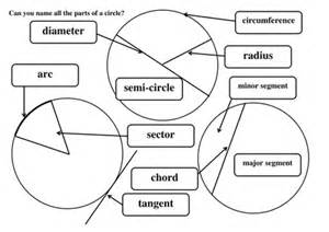 label parts of a circle by maths tiger uk teaching