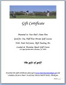 golf certificate templates printable golf gift certificate template quotes