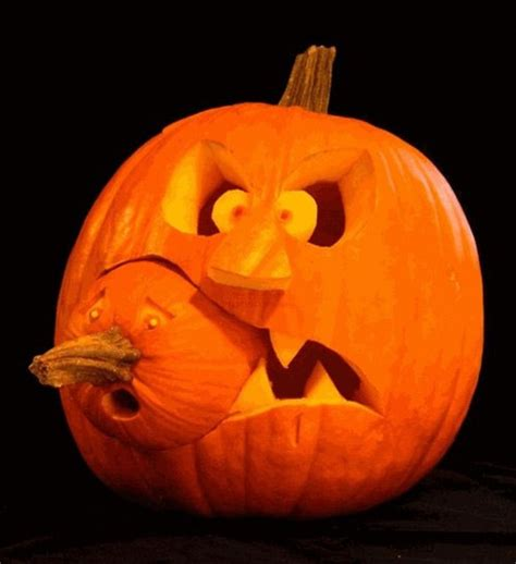 unique halloween pumpkin carving designs with double couple ideas iroonie com