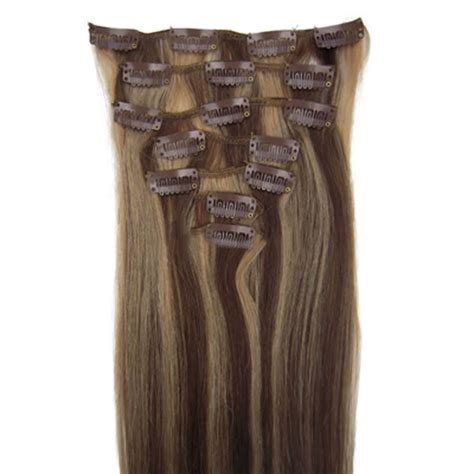 4 clip in hair extensions 16 inch exquisite clip in human hair extensions