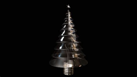 a lightbulb shaped like a christmas tree lights up first