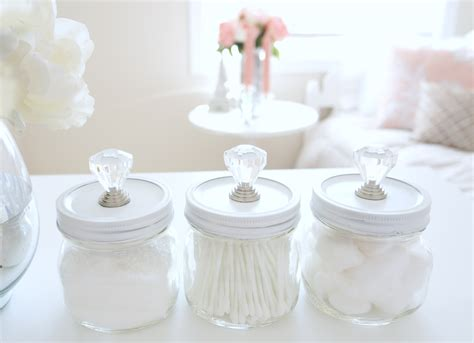 bathroom decoration jars decor periwinkle color sapphire