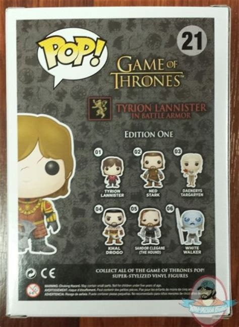 Funko Of Thrones Tyrion Battle Axe pop of thrones tyrion lannister in battle armor hbo