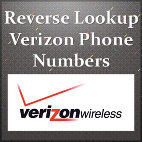Phone Number Lookup Free Verizon Verizon Lookup Free