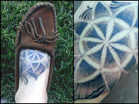 dot work mandala foot tattoo best tattoo ideas amp designs
