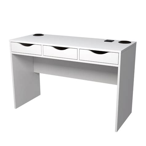 desk l with usb charging station desk with speakers desk design ideas