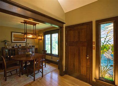 Dining Room Entry Casing Custom Door In Quartered White Oak With Adjacent Door