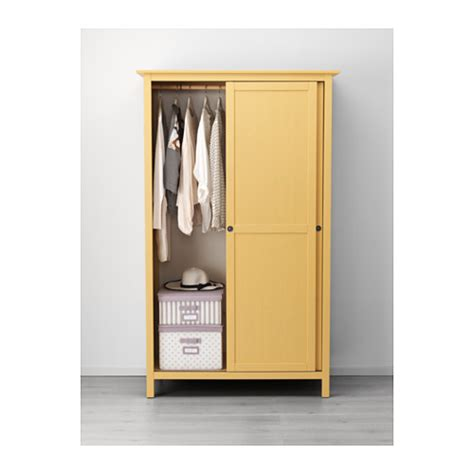 hemnes wardrobe ikea hemnes wardrobe with 2 sliding doors yellow 120x197 cm ikea