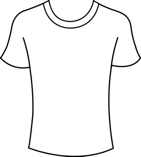 Drawing T Shirt Outline by Mens T Shirt Template Free Clip