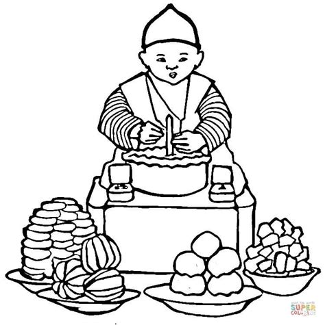 coloring book korea korean food coloring page free printable coloring pages