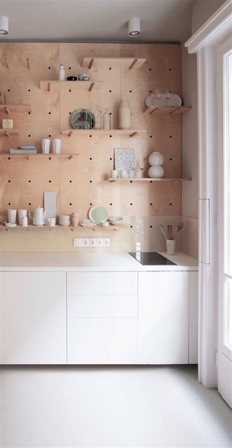 pegboard kitchen ideas via nordicdays compact living white plywood kitchen pegboard scandinavian homes