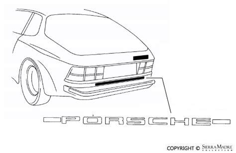 Aufkleber Porsche 924 by Porsche Parts Porsche Sticker Black 924 944 80 91