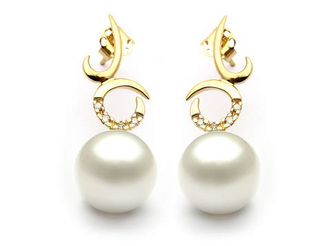 white south sea pearl earring 10 11mm aaa pearl