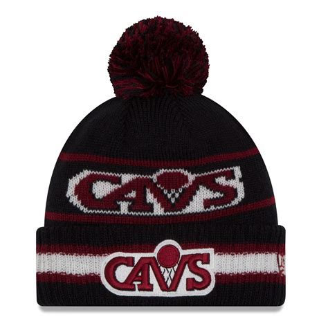 cleveland cavaliers knit hat cleveland cavaliers new era nba cuffed vintage select pom