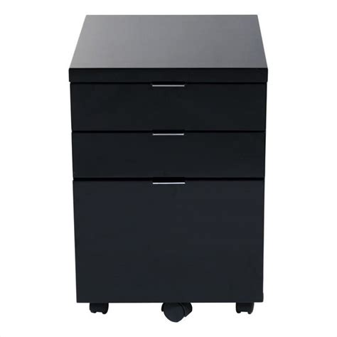eurostyle giorgia 3 drawer file black filing cabinet ebay