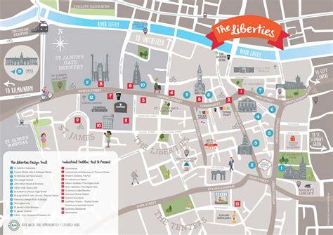 printable street map dublin city centre dublin libierties tourist attractions map
