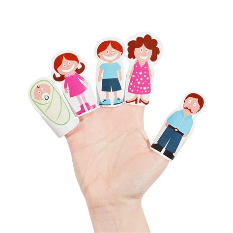 paper finger puppets templates 8 best images of printable family puppets family finger