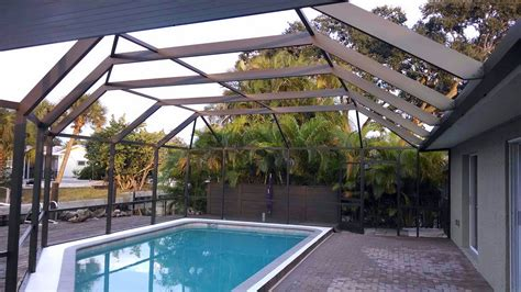 painting aluminum screen enclosures pool cage of the month january in siesta key jpm painters