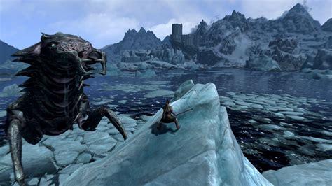 Skyrim Gets Giant Monsters Courtesy Of Fantastic Mod ... Giant Sea Monster Skyrim