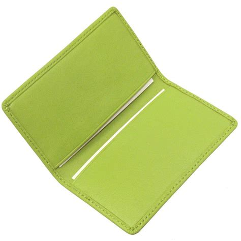 key lime green royce key lime green business card in genuine leather