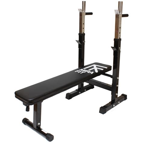 Mirafit Adjustable Folding Flat Weight Bench Dip Station Lifting Chest Press