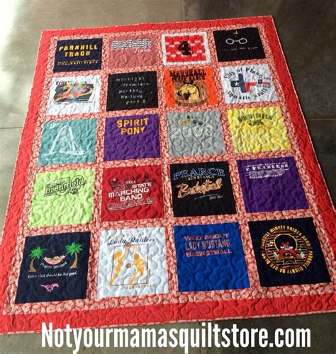 Quilt From T Shirts by Tshirt Quilt Class
