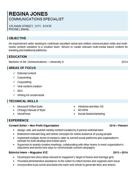 Resume Exles For Communications Communications Specialist Resume Exle
