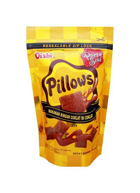 oishi snack pillows chocolate pch  klikindomaret