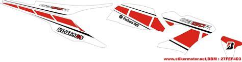 Striping Honda Cb 150 Moto Gp 1 Striping Motor Cb150r Moto Gp Stikermotor Net