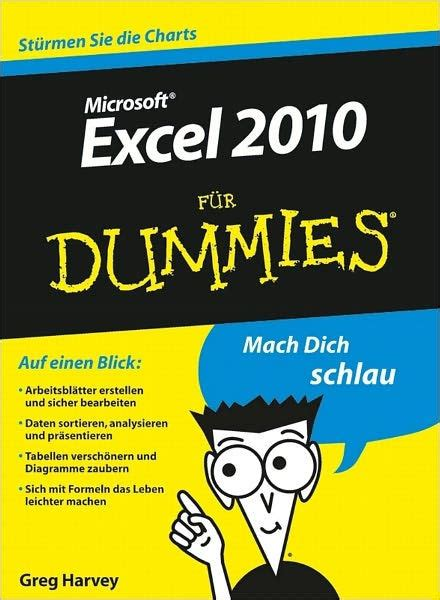 excel 2010 f uuml excel 2010 f 252 r dummies by greg harvey nook book ebook